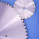 Steel center for diamond saw blade